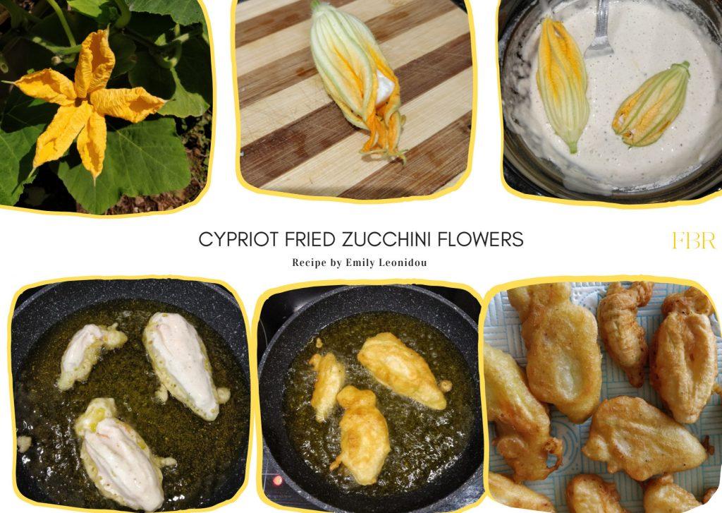 Cypriot fried zucchini flowers