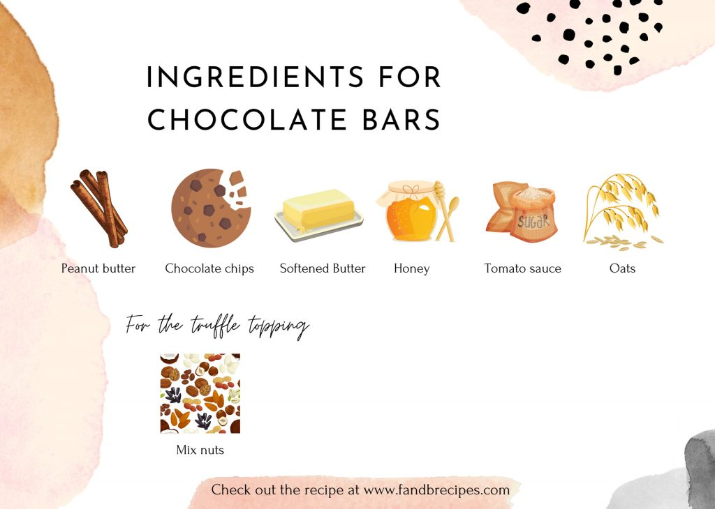 Ingredients for Chocolate Bars