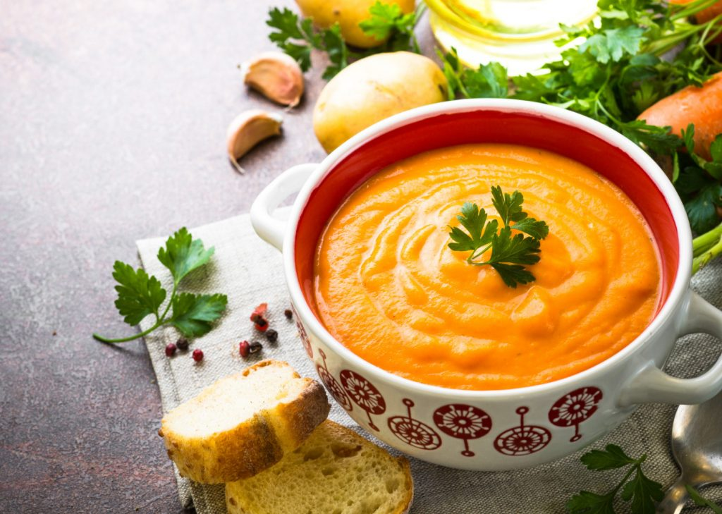 Ginger and Roasted Carrot Soup