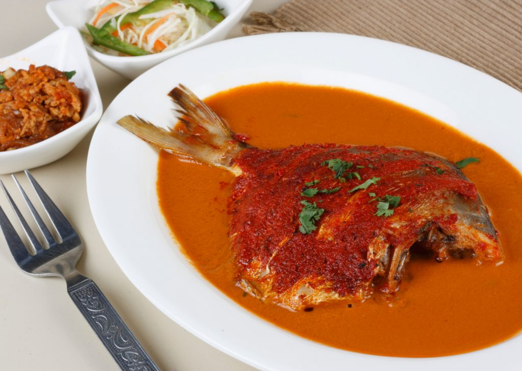 Red Pomfret Fish Curry