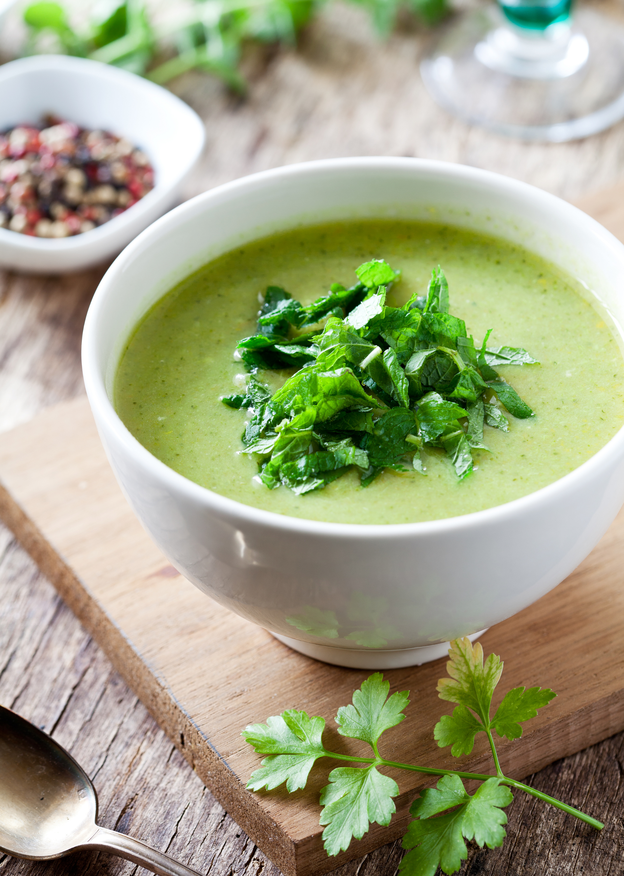 Spinach, Mint and Buttermilk Shorba