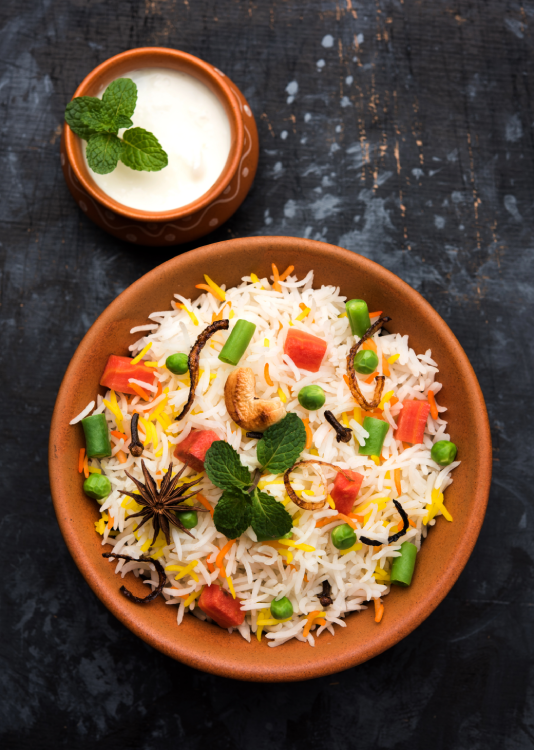 Even though Biryani isn't a curry, a range of vegetarian and non-vegetarian Indian curries can be used to make biryani.