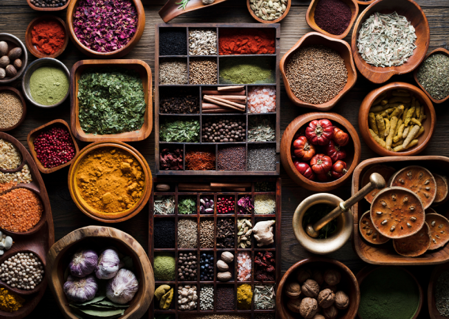 Names and Types of Natural Spices and Seasonings