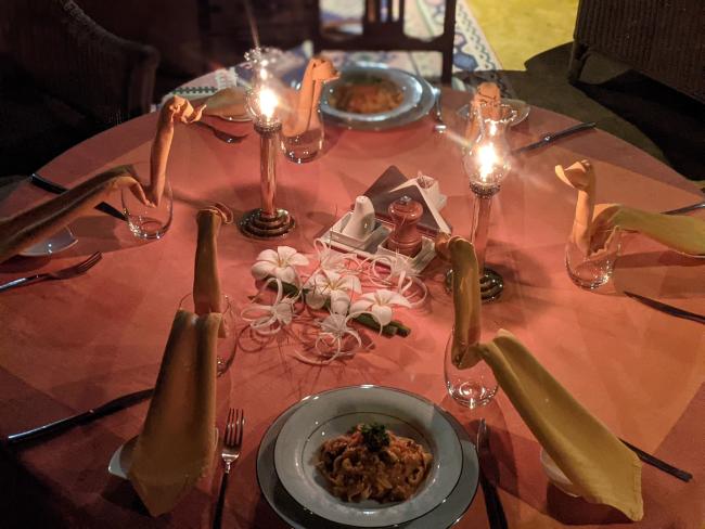 Dinner at Vismaya Lake Heritage